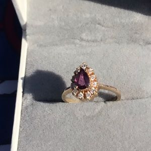 Other - Beautiful natural ruby, 14k and natural diamonds